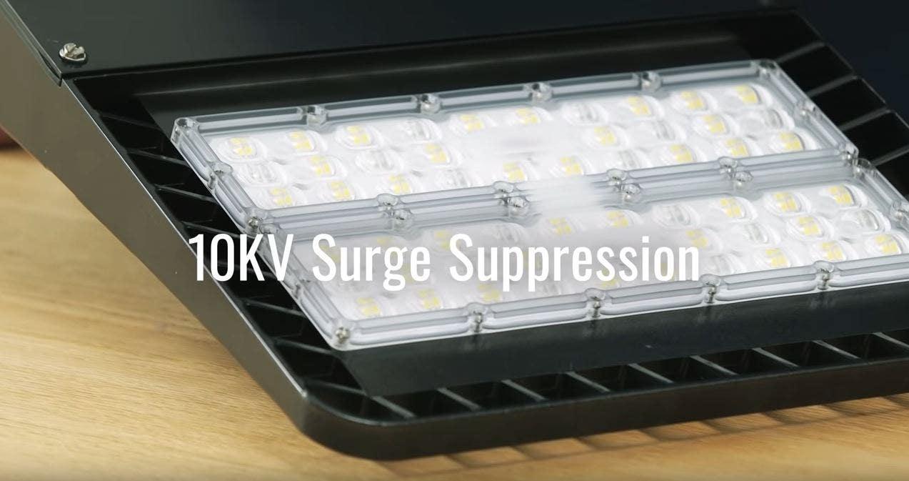led area light e-ape surge suppression