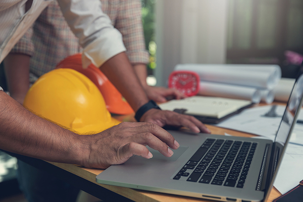 contractor on a laptop