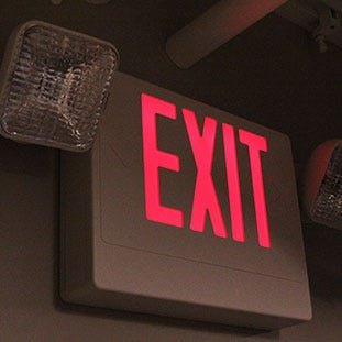 LED Exit Only Signs | E-conolight