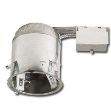RUUD® 6-inch Vertical Recessed Downlight | 75W (Max) INC | Remodel Housing | IC Rated | Air Tight