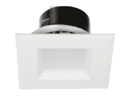 LED 4-inch Downlight Trim E-T4F Series | Square | 3000K | White