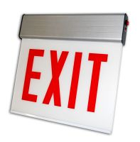 C-Lite LED Surface Edgelit Exit Sign   C-EE-A-CHI Series   Single Face   Battery Backup