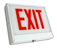 C-Lite LED Exit Sign   C-EE-A-CHI Series   Single Face Steel   Battery Backup   White