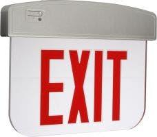 E-XEL1 Series LED Edgelit Exit Sign w/ Battery Backup - Single Face