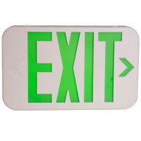 C-Lite LED Exit Sign |C-EE-A-EX Series | Single or Double Face | Green Letters | Battery Backup | White