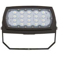 LED Flood Light | E-FCB Series | Yoke Mount| 3000K | 3300 Lumens | Dark Bronze