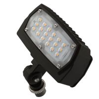 LED Flood Light | E-FCB Series | 1/2-inch Adjustable Fitter Mount| 1500 Lumens | Dark Bronze