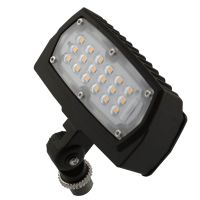 C-Lite LED Flood Light | C-FL-A-LCF Series | 1/2-inch Adjustable Fitter Mount | 4000K | 1500 Lumens | Dark Bronze