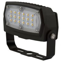 LED Flood Light | E-FCB Series | Yoke Mount| 3000K | 1500 Lumens | Dark Bronze