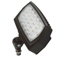 C-Lite Outdoor LED Flood Light | C-FL-A-LCF Series |1/2-inch Adjustable Fitter Mount| 4000K | Dark Bronze