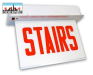LED Recessed Edgelit Stairs Sign | E-X1ER Series | Double Face | Battery Backup