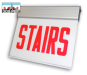 LED Surface Edgelit Stairs Sign | E-X1ES Series | Double Face | AC only