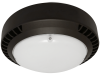LED Round Canopy   E-CRB03 Series   Wide Distribution   5000K   Dark Bronze