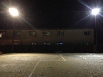 Motel 6 with LED Floodlights