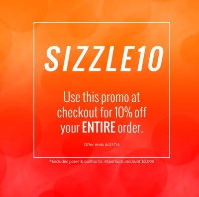 SIZZLE10 promotion