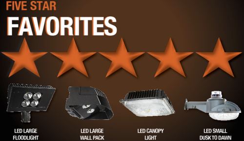 5-star LED favorites