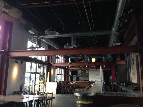 Marco installing fixtures in RI restaurant
