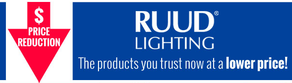 Ruud Lighting price reduction