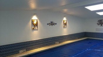 LED Sconces at Monastery of Perpetual Adoration