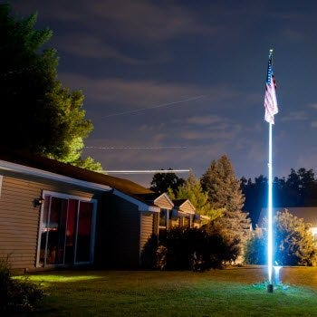 LED directional floodlight for U.S. flag