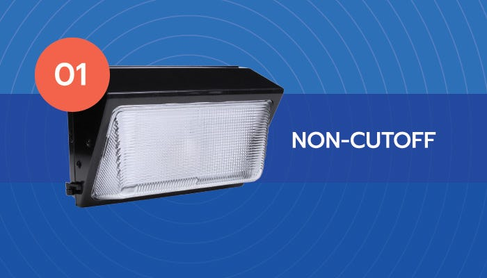 Non cutoff LED wall pack