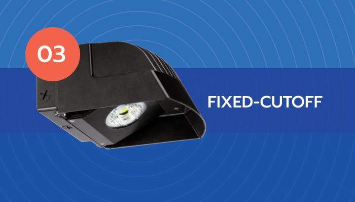 fixed cut-off LED wall pack