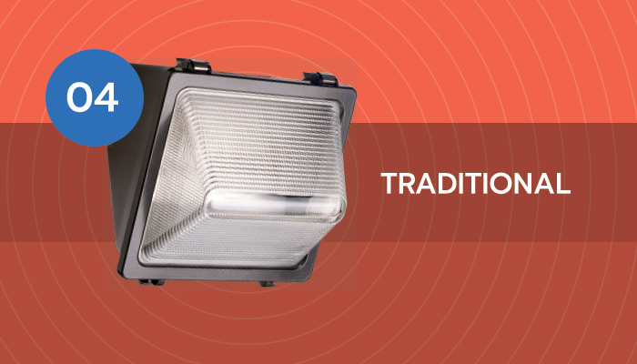 traditional LED wall pack light